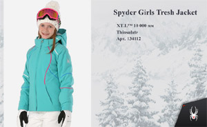 Куртка Spyder Girls Tresh Jacket |  Baltic French