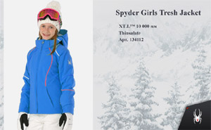Куртка Spyder Girls Tresh Jacket | French Blue