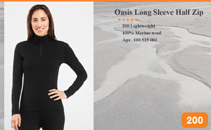 Oasis Long Sleeve Half Zip 100 515 001