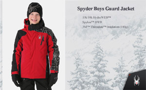 Куртка Spyder Boys Guard Jacket | Red Black
