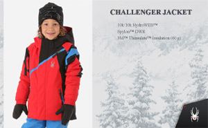 Куртка Spyder Boys Challenger Jacket | Red Black