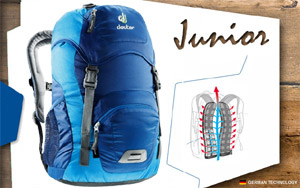 Рюкзак Deuter Junior | 3352 steel-turquoise