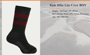 Kids Hike Lite Crew BOY | арт. IBN D06 F64