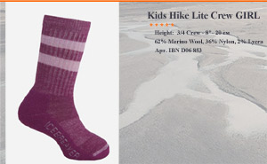 Kids Hike Lite Crew GIRL | арт. IBN D06 853