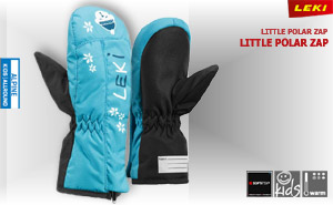 Leki Little Polar Zap Mitt | cyan