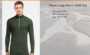 Oasis Long Sleeve Half Zip | Арт. 100 477 304