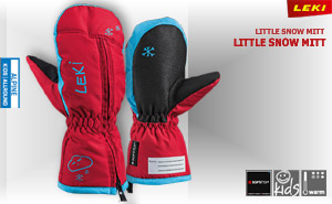 Leki Little Snow Mitt | red cyan