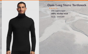 Icebreaker Oasis Long Sleeve Turtleneck