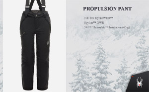 Брюки Spyder Boys Propulsion Pant | Black Black