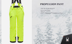 Брюки Spyder Boys Propulsion Pant | Bryte Yellow