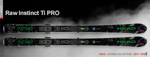 Горные лыжи Head Raw Instinct Ti Pro 2017