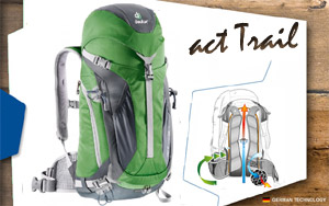 Deuter ACT Trail 24 | 2424 emerald-anthracite