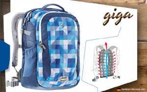 Рюкзак Deuter Giga | 3016 blue-arrowcheck