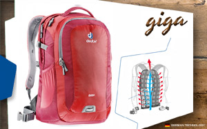 Рюкзак Deuter Giga | 5520 fire-cranberry