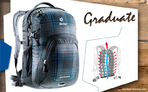 Рюкзак Deuter Graduate | 7309 blueline check