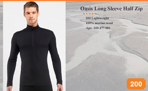 Oasis Long Sleeve Half Zip | Арт. 100 477 001