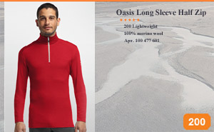 Oasis Long Sleeve Half Zip | Арт. 100 477 601