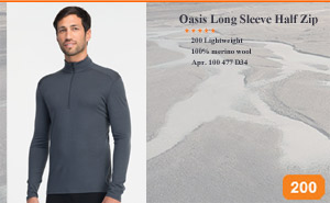 Oasis Long Sleeve Half Zip | Арт. 100 477 D34