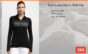 Tech Long Sleeve Half Zip Fair Isle | арт. 101 505 001