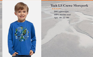 Icebreaker Kids LS Wilderness cadet/chatreuse