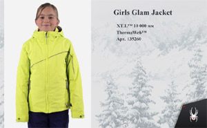Spyder Girls Glam Jacket | Lime