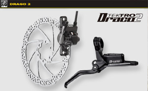 Tektro Draco 2-F-160 | Black -160mm rotor
